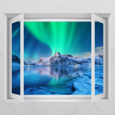cr547-아이슬란드의오로라_창문그림액자