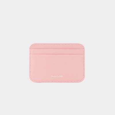 Dijon 101R mini Card Wallet light pink 디종 미니 카드 월렛 라이트핑크