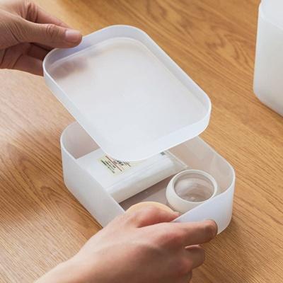 반투명 소품 화장품 수납 정리함 (대형덮개)