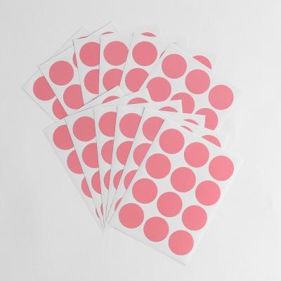 20mm 컬러 원형스티커 12매세트(핑크)/ 단색스티커