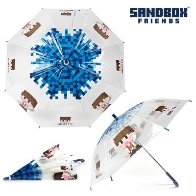 샌드박스 하이도티 비닐 장우산 55 (블루)