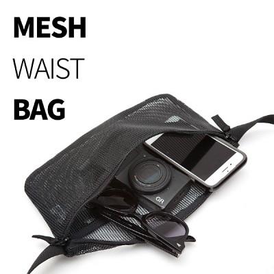 TNP MESH WAIST BAG - BLACK