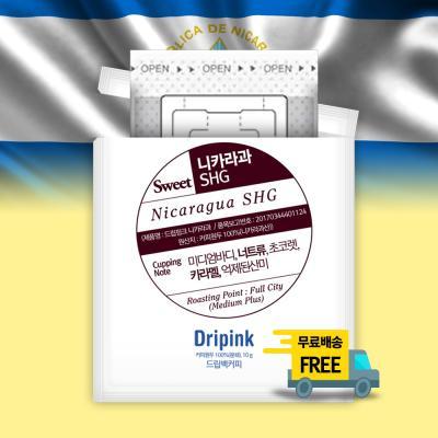 드립핑크 갓볶은 니카라과 SHG 10g x 18봉 드립백커피