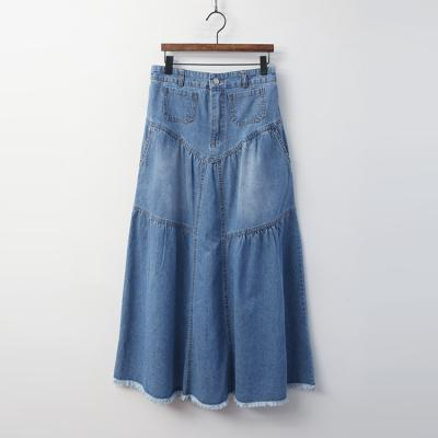 Nicole Denim Long Skirt