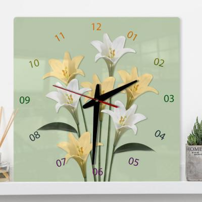 il577-아크릴시계_꽃송이들02(백합)
