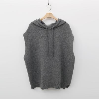 Wool Hooded Knit Vest