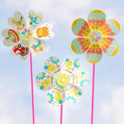 꽃 바람개비만들기 초등만들기