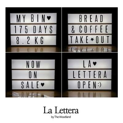 La Lettera 레터링라이트박스