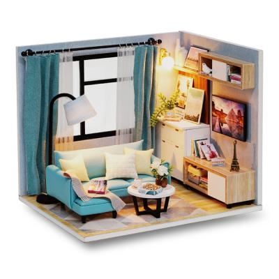 [adico]DIY 미니어처 하우스 - 블루 리빙룸