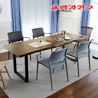 쥬디앙 우드슬랩 식탁 테이블 6인 1800