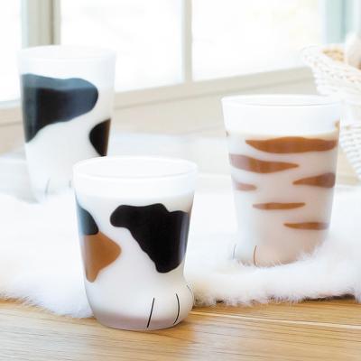 coconeco 고양이발 유리컵 엄마고양이 300ml
