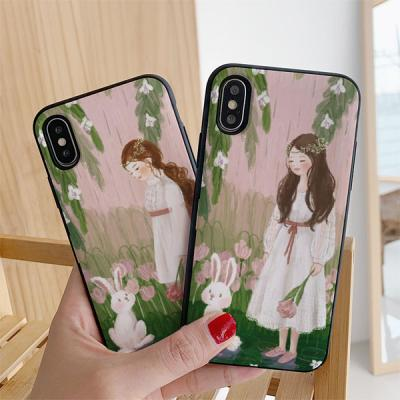 아이폰7플러스 딩그레이 비내리는숲 카드케이스