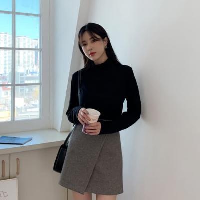 여성 미니 스커트 치마 팬츠 베드센 밴딩 랩