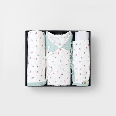 미니베리 출산선물세트(저고리+속싸개+모자)_여름용