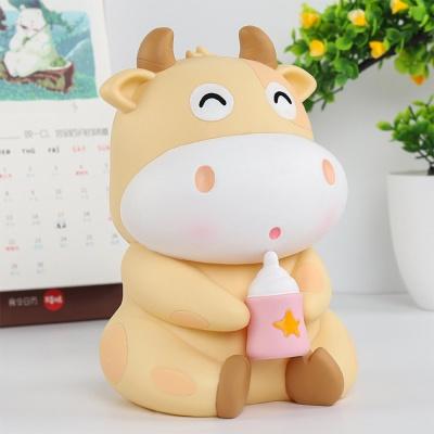 2021년 신축년 귀여운 송아지저금통 소띠저금통 소