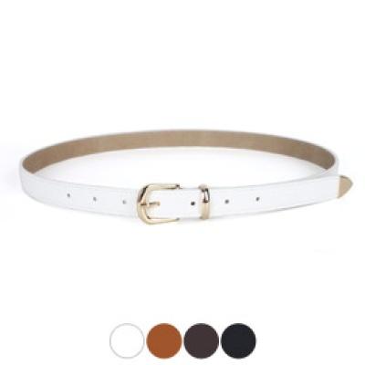 [디꾸보]금장 고리 버클 아이언캡 여성벨트 W-GB461R