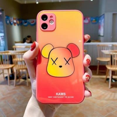 아이폰 12 미니 11 pro max 그라데이션 곰돌이 케이스