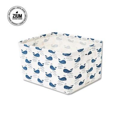 [무료배송] 북유럽풍 패브릭바스켓 MINI사각 푸른고래