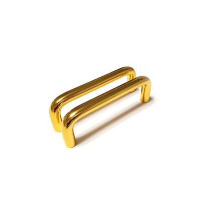 ㄷ자봉 가구손잡이 골드유광 (길이 96mm 두께 10mm)