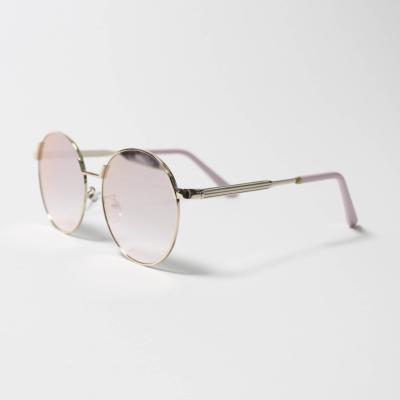 원형 핑크 미러 선글라스
