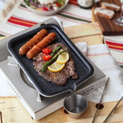타미 혼밥 사각구이판(휴대용 미니 고기팬)