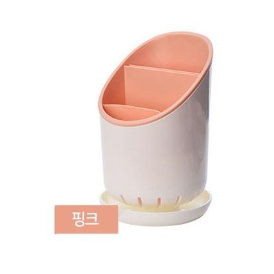 예쁜 수저통 수저 케이스 테이블 숟가락통 핑크