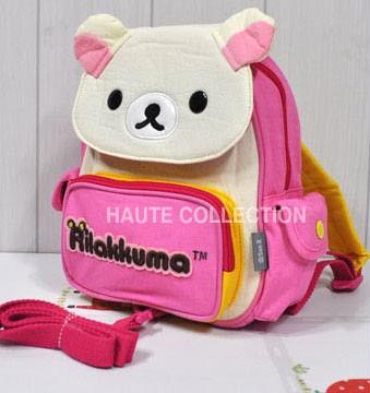 리락쿠마 포켓 미아 방지 배낭 (핑크)