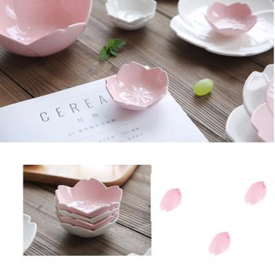 플레이팅 핑크로즈 샐러드볼 소 1개(색상랜덤)