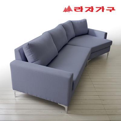 슬라 코너형 카우치 패브릭 쇼파 4인용