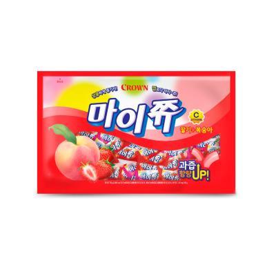 크라운 마이쮸 딸기+복숭아 사탕 대용량 720g