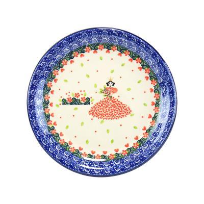 폴란드그릇 아티스티나 원형 접시 21cm 패턴2520