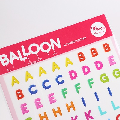 Ballon Alphabet Sticker - 풍선 알파벳 스티커