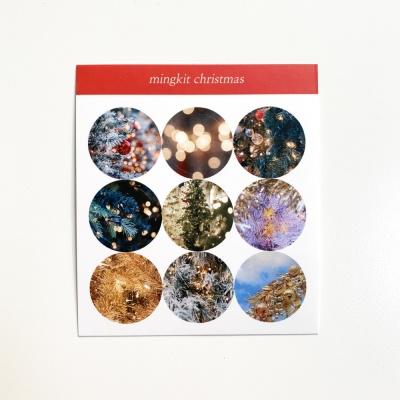밍키트 크리스마스 원형 스티커