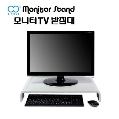 모니터받침대 TV 노트북 거치대 스탠드 화이트