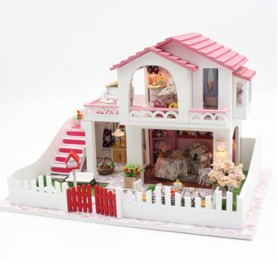 [adico]DIY 미니어처 풀하우스 - 핑크 2층 하우스