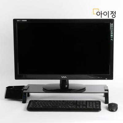 스마트독브릿지 USB 모니터받침대 S355 블랙유리/블랙
