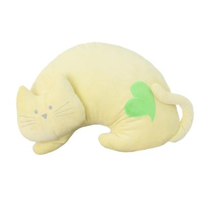 베스트에버 고양이 쿠션-옐로우