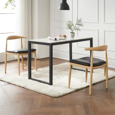 안톤 세라믹 마블 식탁 세트B 1200 + 의자 2개포함