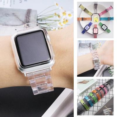 애플워치 6 5 4 3 2 se 밴드/투명 컬러 스트랩 시계줄