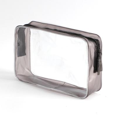 블랙라인 사각 투명 파우치/ 몰놀이 수영가방