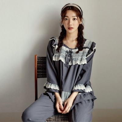 [쿠비카]바스트 레이스 샌드워싱 투피스 여성잠옷W817