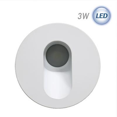 LED 원형 계단매입 3W (화이트) (실내/외 겸용)