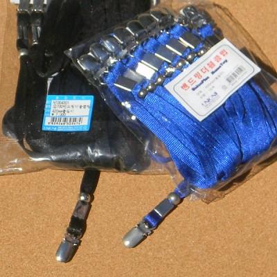 [Union PLUS] 길이조절장치가 있는 목걸이명찰 줄...유니온 밴드링 더블클립-1팩 10개입 HC20-13