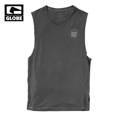 [GLOBE] HOTHAM CUT OFF TANK TOP (VINTAGE BLACK)