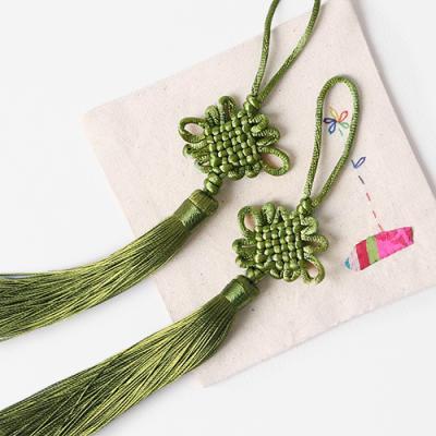 풀색 전통 매듭 노리개 (2개)
