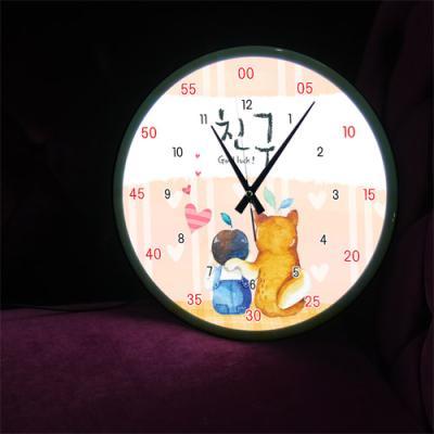 ng197-LED시계액자35R_아기와나우린친구