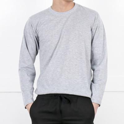 남성 남자 긴팔 티셔츠 여름 기본 라운드 긴팔 면