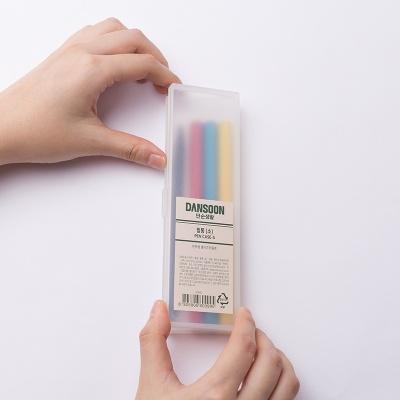 단순생활 반투명 플라스틱 심플 필통 소