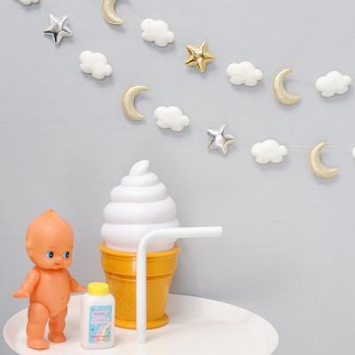 달과 별 그리고 구름 가랜드