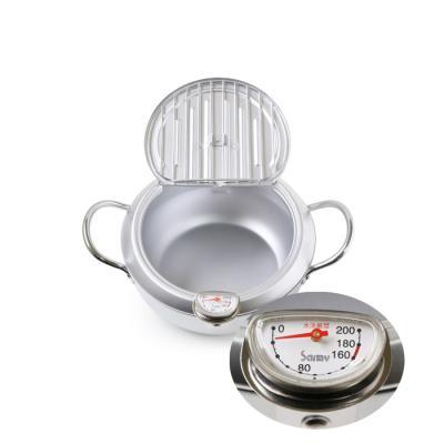 일본산 요시카와 미락정2 온도계 부착 튀김냄비 20cm